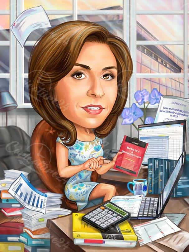 Accountant Caricature from Photo