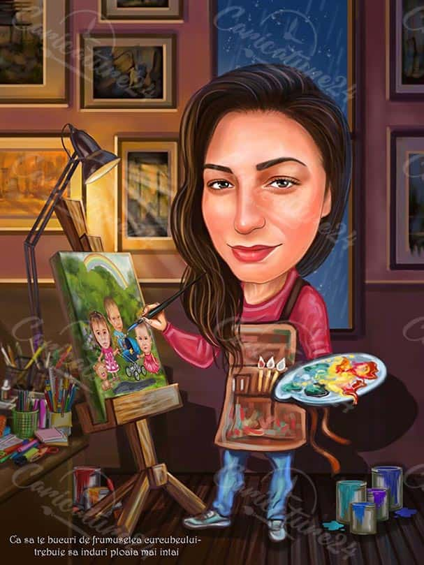 Artist Caricature Drawing