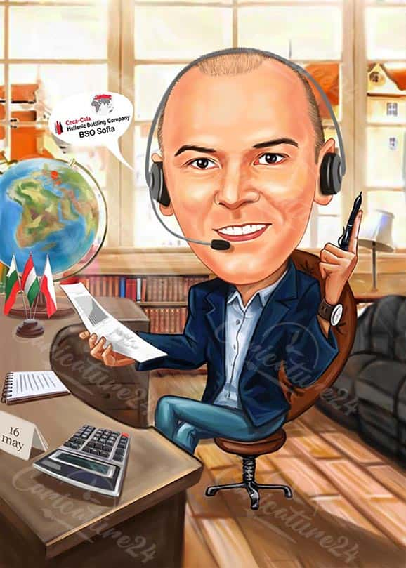 Business Colleague Caricature from Photo