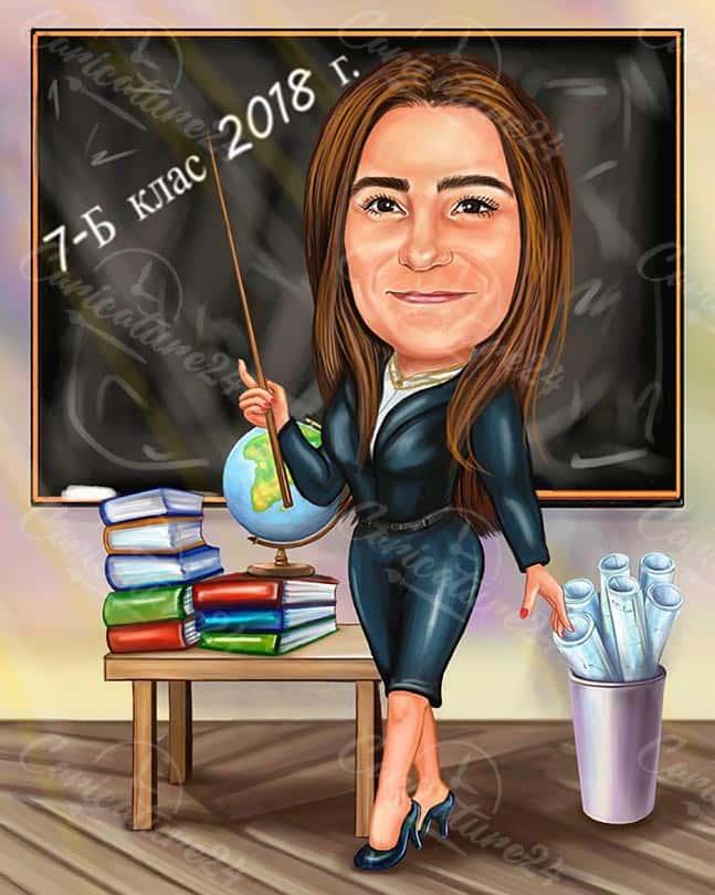 Caricature of a Teacher