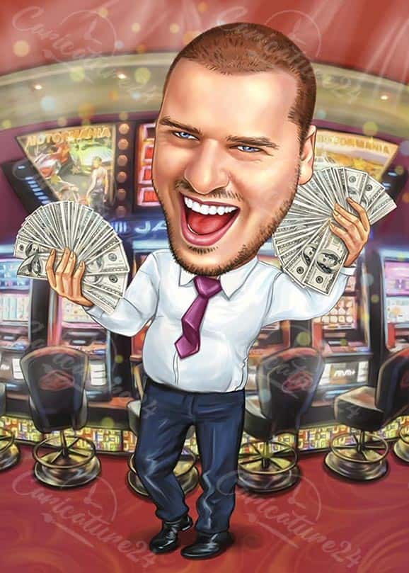 Casino Caricature for a Man