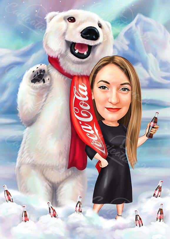 Coca Cola Bear Caricature
