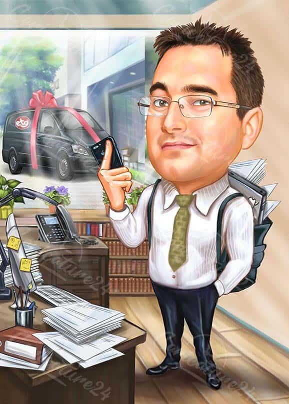 Custom Boss Caricature Gift