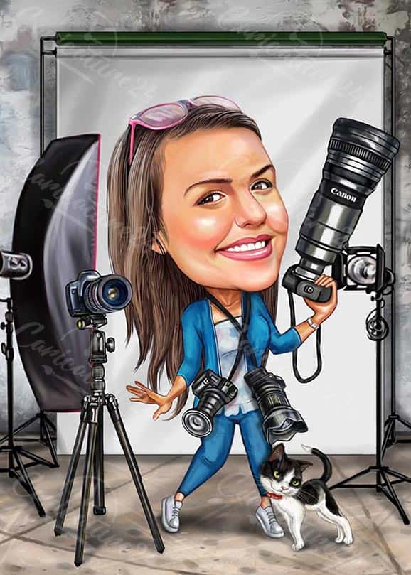 Custom Photographer Caricature from Photo