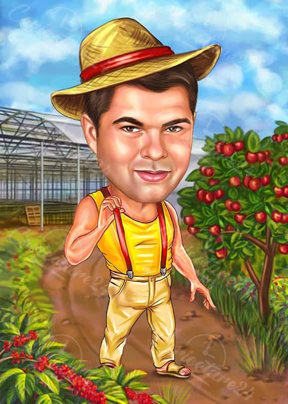 Farmer Caricature