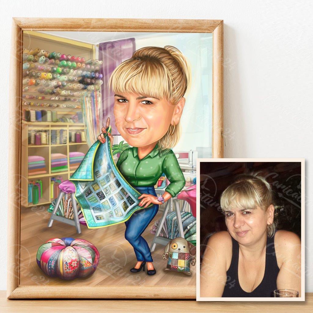 Female Designer Caricature