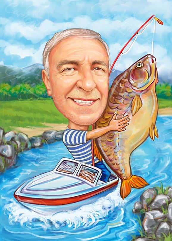 Fishing Caricature