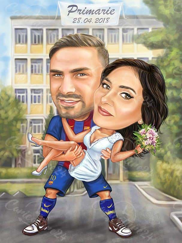 Funny Wedding Caricature Picture