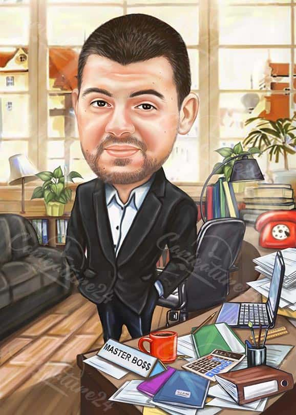 Gift Caricature for Boss Day