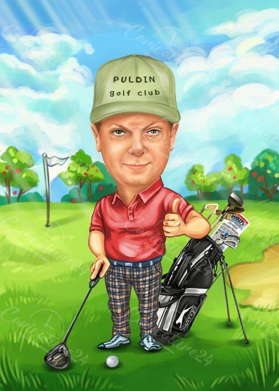 Golf Caricature