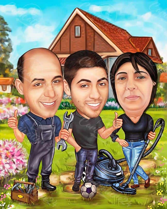Handyman Personalized Caricature