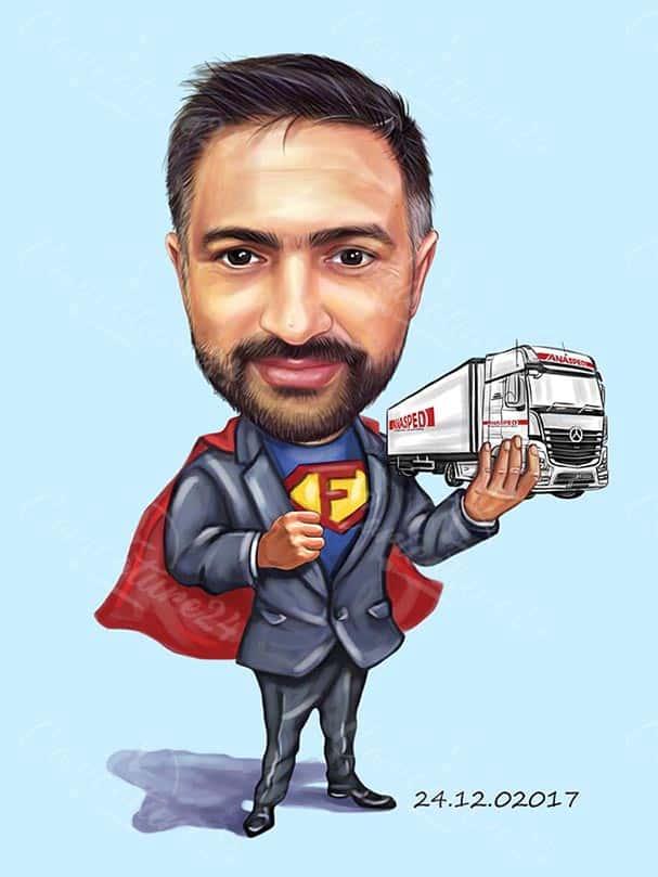 Superman Caricature Business Design