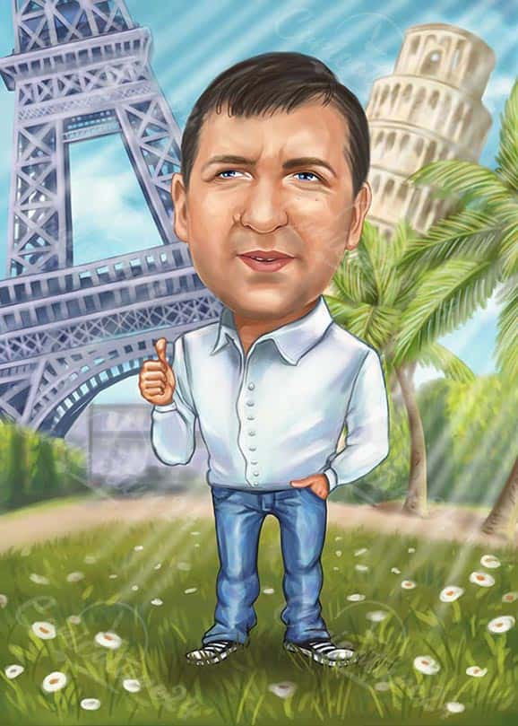 Traveler Caricature from Your Image
