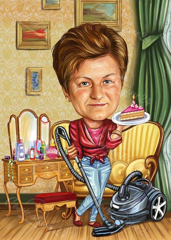 Woman Caricature Image