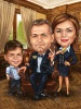 40th Birthday Caricature with Family