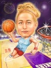 Basketball Caricature for a Woman