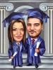 Best Friends Graduation Caricature