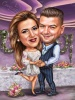 Best man and Maid of Honer Caricature Drawing