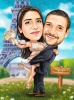 Best man and Maid of Honer Wedding Caricature Gift