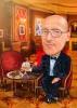 Businessman Caricature in a Restaurant