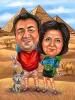 Caricature for a Couple in Egypt