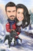 Christmas Caricature Gift for a Couple