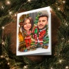 Christmas greeting card with caricature