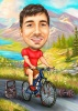 Cycling Caricature Drawing