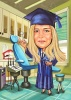 Dentist Graduation Caricature from Picture