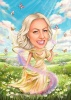 Fairy Princess Magical Caricature from Photo