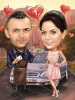 First Wedding Anniversary Caricature
