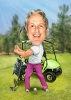 Funny Golf Caricatures