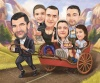 Funny Group Caricature from Photos