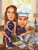 Gamer Caricature with Chef Skills
