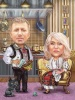 Home Caricature with Folk Details
