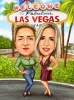 Las Vegas Vacation Caricature