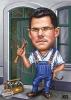 Male Caricature Handyman