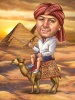 Man Caricature in Egypt