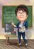 Math Female Teacher Caricature Drawing