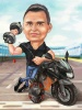 Motorcycle Caricature Gift for Motorcycle Lovers