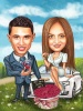Personalized Engagement Caricature for Couple