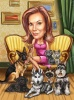Pet Caricature Drawing Animal Lover