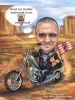 Retirement and Farewell Caricature for Motorlovers