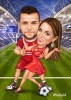 Soccer Caricature for a Couple