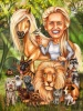 Veterinarian Gift Caricature with Animals