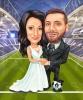 Wedding Football Caricature