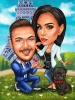 Will You Marry Me Caricature Drawing