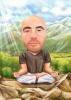 Yoga Zen Caricature